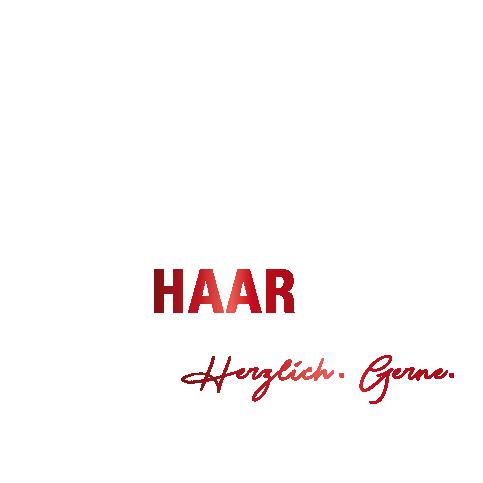 Logo von Creativ Haar Moda in weiß und rot